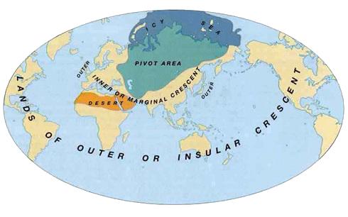 Weltkarte Mackinder